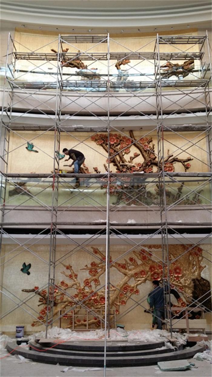 喜鹊登梅浮雕施工图