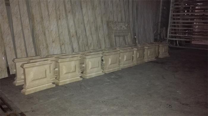 GRC仿大理石方形柱墩