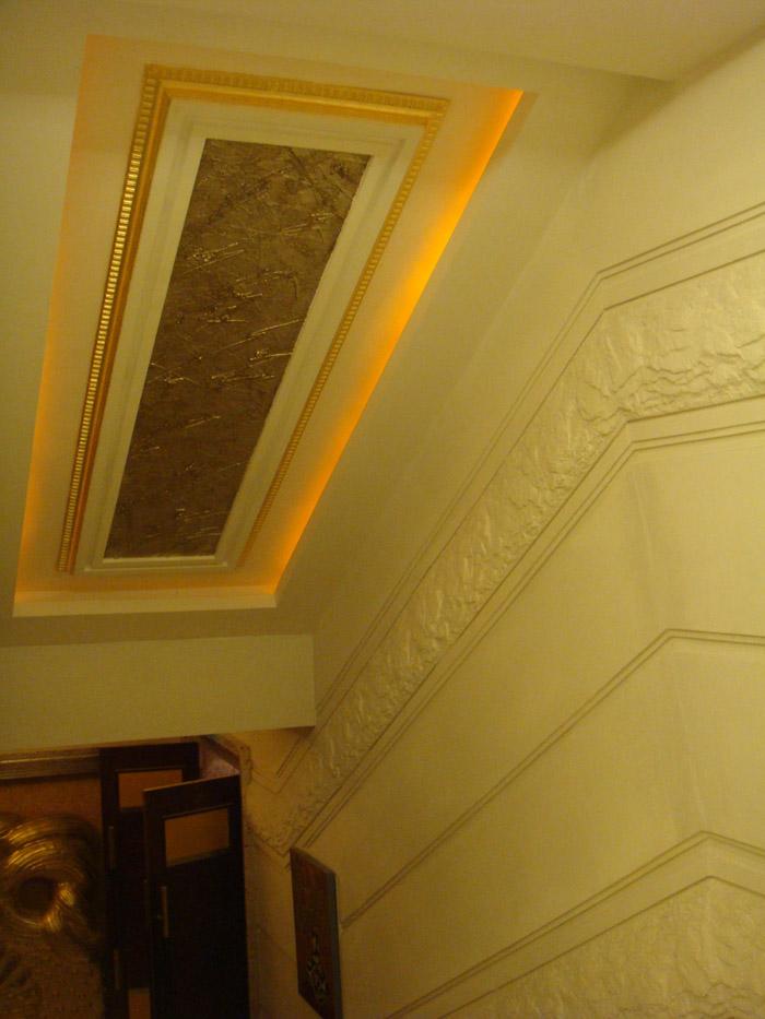 GRG楼梯间浮雕吊顶
